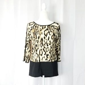 Chico's Leopard Print High-low Tunic Top